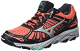 Mizuno Wave Mujin 3 G-tx, Damen Laufschuhe, Pink (Fiery Coral/Electric Green/Black), 40.5 EU (7 UK)