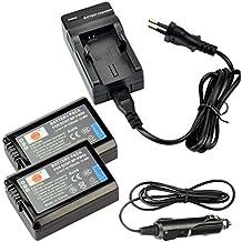 DSTE 2-Pieza Repuesto Batería y DC107E Viaje Cargador kit para Sony NP-FW50 Alpha 7 a7 7R a7R 7R II a3000 a6000 a6500 NEX-3 NEX-3N NEX-5 NEX-5N NEX-5R NEX-5T NEX-6 NEX-7 NEX-C3 NEX-F3 SLT-A33 SLT-A35 SLT-A37 SLT-A55V Cyber-shot DSC-RX10