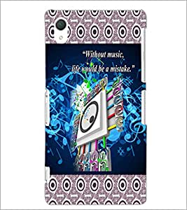 PrintDhaba Quote D-5730 Back Case Cover for SONY XPERIA Z2 (Multi-Coloured)