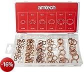 Amtech - Set di rondelle di rame, 110 pezzi