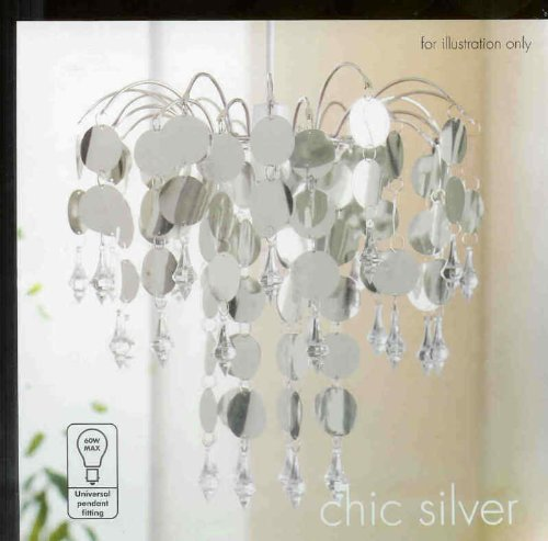 "New ""Chic"" Silver Ceiling Light Chandelier by chic"