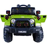 Toyhouse Off Roader Jeep Rechargeable Battery Operated-Ride-on for Kids, Green