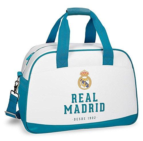 Real Madrid 5383261 Rm Gol Bolsa de Viaje, 40 cm, 24.64 Litros, Blanco
