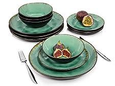 ABGERUNDETES ARRANGEMENTDieses Teller Set beinhaltet alles, was Sie zu einem perfekten Dinner für 4 Personen und 3 Gänge benötigen. 4 Speiseteller, 4 Dessertteller sowie 4 Schalen begleiten Sie durch einen wundervollen und harmonischen AbendAUßERGEWÖ...