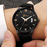 Mens Watches Sale ClearanceMens WatchesLuxury Military Mens Date Stainless Steel Leather Analog Quartz Wrist Watches