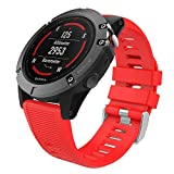 MoKo Garmin Fenix 6X/6X Pro/5X Watch Band, Soft Silicone...