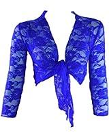 #1182 Damen Designer Sommer Bolero Spitze Jäckchen Jacke Blazer zum Knoten
