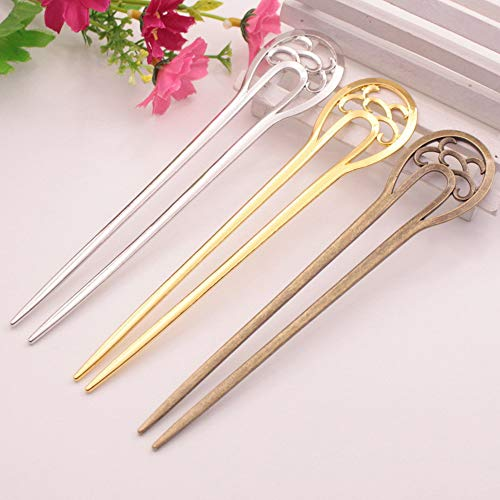 Carereor - Fermaglio per capelli a forma di U, in metallo, forcina per capelli da circa 16...