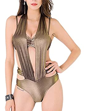 Costume da bagno delle signore Costume da bagno di un pezzo di costume da bagno di costume da bagno di modo Costume...