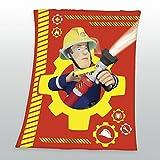 Feuerwehrmann Sam Flauschdecke Schmusedecke Kuscheldecke 130 x 170 cm