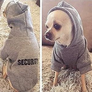 SUNMIAOMIAOChien vêtementsSecurity Dog Clothes Vêtements pour Chiens Chien Hoodies Vêtements pour Petit Chien Automne Manteau Veste pourVêtements Chiot