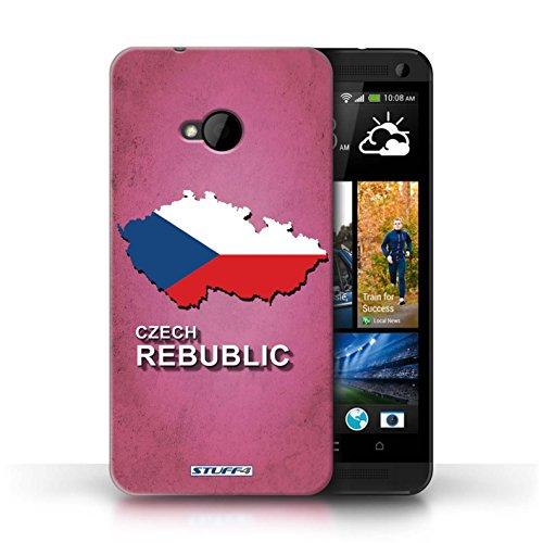 Coque de Stuff4 / Coque pour HTC One/1 M7 / Amérique/Américain/USA Design / Drapeau Pays Collection Tchèque/Czechian