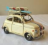Lovely Grande rétro italien classique conçu Boîte en métal pour voiture avec toit à soulever pour une photo–20cm de long–Excellent Cadeau Ornement pour une étagère ou un bureau.
