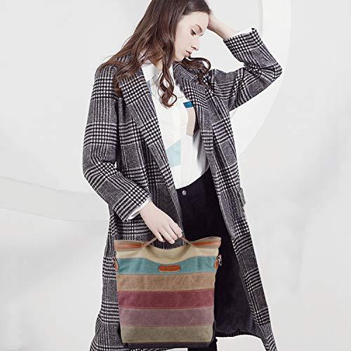 2014 Fashion Damen Mädchen Handtasche Umhängetasche Schultasche Alltagstasche Universal Leinwand Multifunktion mit Schulterträger - 8