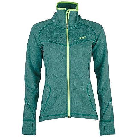 Chiemsee Damen Lya Fleece Jacke, Alpine Green Melange, S
