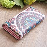 Diriangzi Glaubbare Fashion Lady Women Ethnic Style Wallet Leder Clutch Long Wallet Girl Long Card...