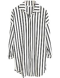 newest 6417b 8aedd Amazon.it: camicia righe bianche nere - T-shirt, top e bluse ...