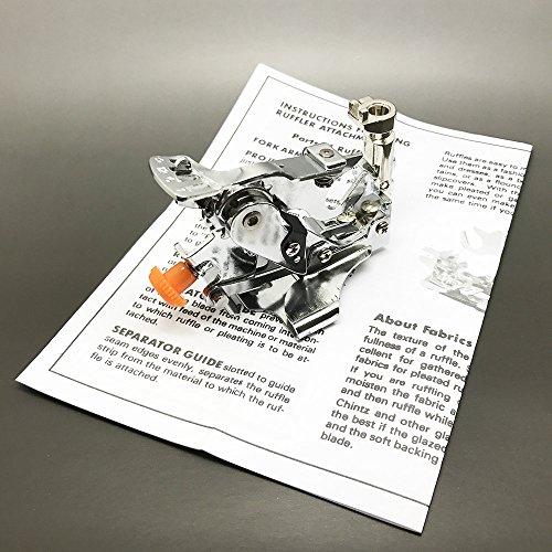Austin \'füßchenadapter Ruffler Fuß passen Bernina Nähmaschine, 707730830801807930, Metall, Silber, 17,3x 9,2x 5cm