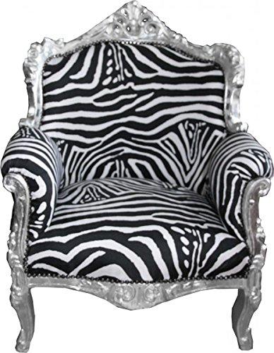 Barock Sessel Zebra/Silber Lord Mod1 - Limited Edition