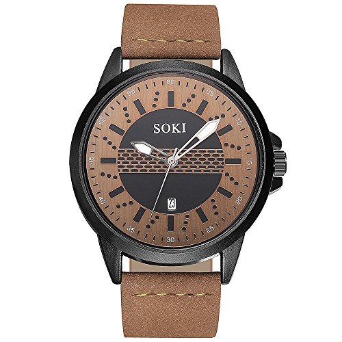Armbanduhr Herrenuhr Armbanduhren COOKDATE Paar Mode Nylonband Analoge Quarz-Runde Armbanduhr Uhren Armbanduhren Herrenarmbanduh Herrenuhr Herrenarmbanduh (C)