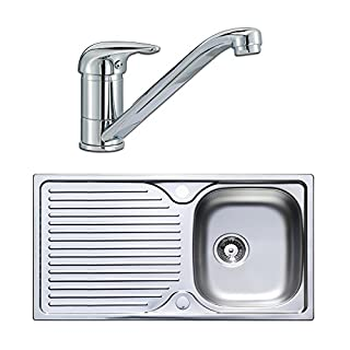 Astracast Quality Stainless Steel 1.0 Single Bowl Kitchen Sink & Lever Tap Pack