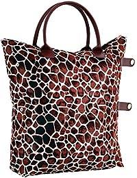 80da9dc4106ec Damen Nylon Shopper Tasche Wasserdichte Handtaschen Faltbare  Schultertaschen klein