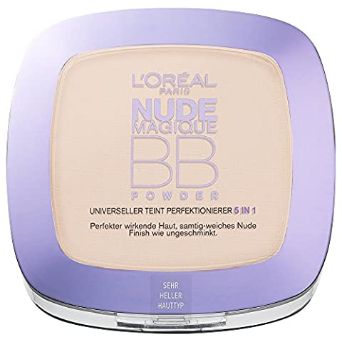 L'Oréal Paris Make-Up BB Powder, sehr hell / Pflegendes 5 in 1 Beauty Balm Puder mit Nude-Effekt für jeden Hauttyp / 1 x 9 ml