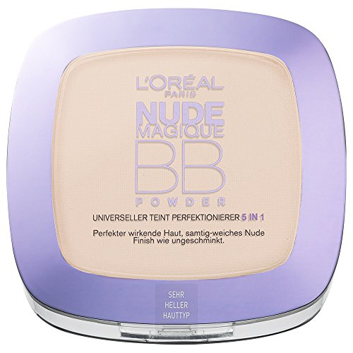L'Oréal Paris Make-Up BB Powder, sehr hell / Pflegendes 5 in 1 Beauty Balm Puder mit Nude-Effekt für jeden Hauttyp / 1 x 9 ml