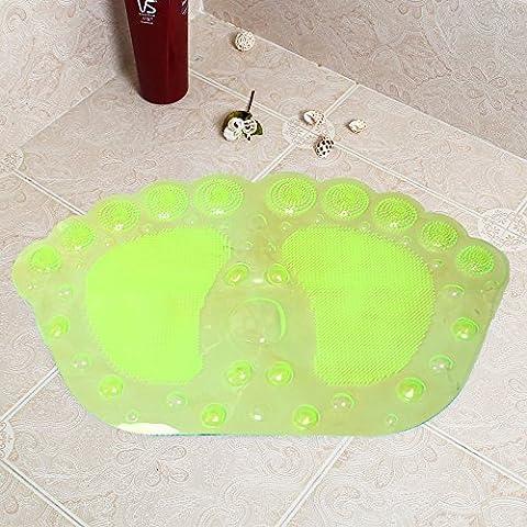 Alfombra de Baño antideslizante con un cuarto de baño ducha cupule esteras bañera ducha mat -36*58cm amarillo