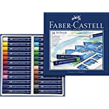 Faber-Castell 127024 - Estuche de cartón con 24 ceras pastel de aceite, multicolor