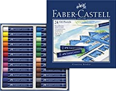 Idea Regalo - Faber-Castell 127024 Pastelli ad Olio, 24 Pezzi