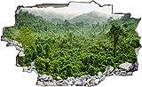 DesFoli Urwald Dschungel 3D Look Wandtattoo 70 x 115 cm Wand Durchbruch Wandbild Wandsticker Deko Sticker Aufkleber C339