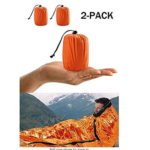 51oF%2B%2BqTvbL. SS500  - Charminer Emergency Sleeping Bag,Survival Sleeping Bag PE Aluminum Film, Bivvy Bag Lightweight Reflective Lining…