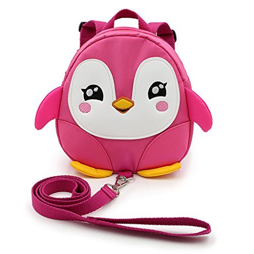 hipiwe-toddle-children-backpack-with-reins-rucksack-harness-walkers-tether-belt-penguin-pink