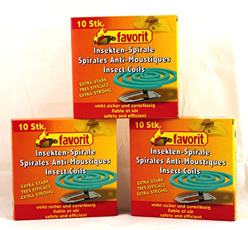 Spirales Anti Moustiques de Favorit Lot de 40 spirales insectes moustiques spirales anti-moustiques – Anti moustiques spirale