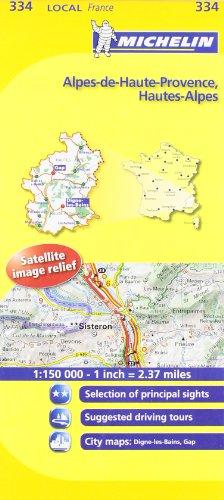 Alpes-de-Haute-Provence, Hautes-Alpes Michelin Local Map (Michelin Local Maps)