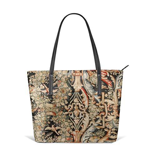 Sotyi-ltd Antike French Gobelins Aubusson Gobelin Handtasche Strandtasche Reisetasche Spielzeugtasche Einkaufstasche Schultertasche für Damen und Mädchen -