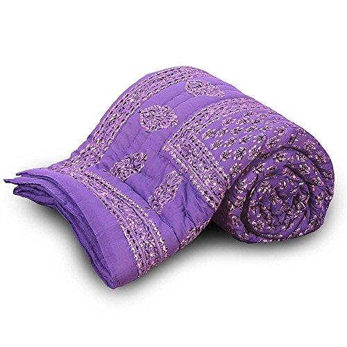 The Great Art Collection exclusive rajasthani rajai for winter jaipuri razai blanketPure Cotton Jaipuri Floral Print Single Bed Quilt 119