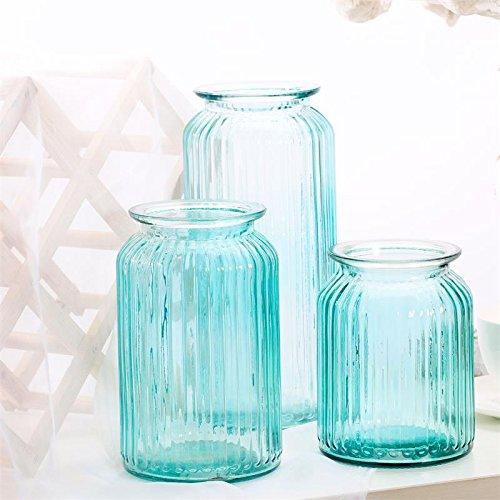 ZHFC-einfache moderne vertikalen streifen von transparenten glas vase florale ornamente shutiao desktop hydrokultur vase floral,trompete ruß Russ Vase