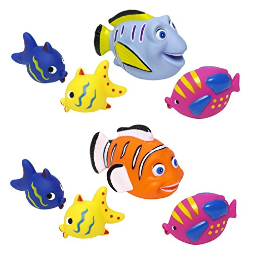 4pc Bath FIsh Squirters for Bathtime Best Bath Toys Gift for boys girls toddlers
