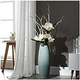 ZCM Künstliche Blumen, Einfache Dekorative Keramik Bodenvase Wohnzimmer Blau Hohe Getrocknete Blume Blumengesteck (Farbe : B, größe : 60cm)