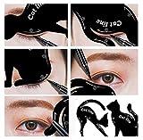 Gusspower 2pcs hojas gato negro delineador de ojos diseño de color...