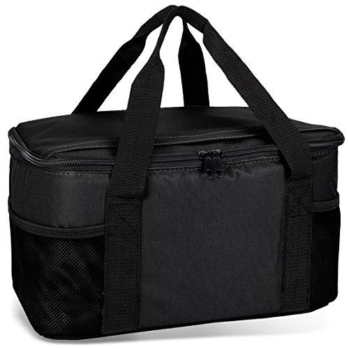 noorsk Kühltasche 20 Liter Einkaufstasche Strandtasche Picknicktasche Kühlbox Picknickkorb in vielen Farben - schwarz