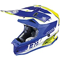 JUST1 casco J32 Pro niños Kick, color blanco/azul/amarillo, ...