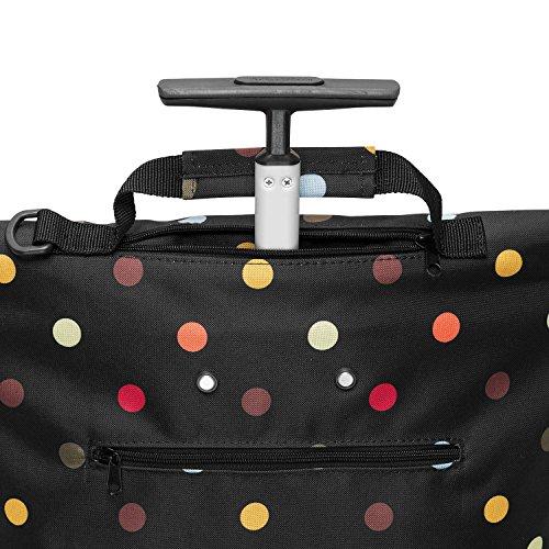 Reisenthel Trolley M, Borsa shopping, Carrello spesa rotolo, grigio talpa barocco, NT7027 - artista strisce pois
