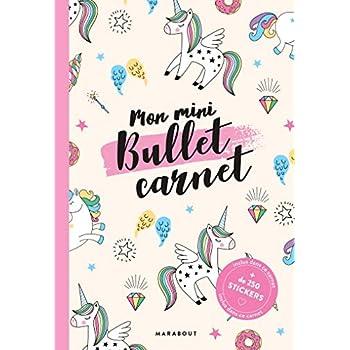 Mon mini bullet carnet licornes - inclus 4 planches de stickers