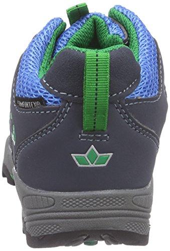 Lico Trail High Kids, Bottines de randonnée garçon Bleu - Blau (marine/blau/grün)