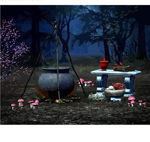 Malen Nach Zahlen No Frame Halloween Diy Kit Moderne Wandkunst Bild Kalligraphie Malerei Für Wohnkultur Kunst