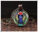 Ägyptische Skarabäus Halskette, Scarab Schmuck, ägyptischer Schmuck, Skarabäus Anhänger, handgefertigt, ein schönes Geschenk
