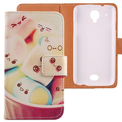 Lankashi PU Flip Leder Tasche Hülle Case Cover Schutz Handy Etui Skin Für MOBIWIRE Ahiga Lovely Design